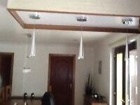 Silver Led Pendant lights
