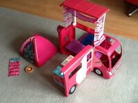 Barbie camper van and camping set