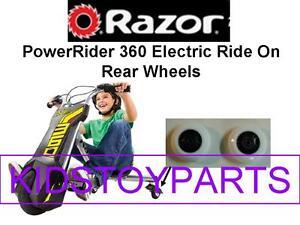Razor POWERRIDER 360 Rear Wheels set of 2 (buy 1 and 2 rear wheels are shipped)