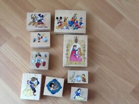 Disney crafting rubber stamp.9 in total