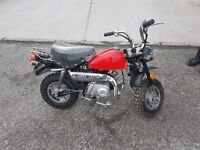 Mini Monkey bike suitable for camper motorhomes