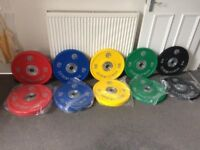 Urethane Olympic weighs plates