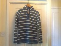 Fat face ladies blue and white striped thicker long sleeve top size 8