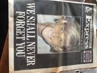 Princess Diana death, funeral coverage International Express 1997