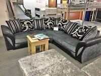 Leather & Fabric Suite SHANNON Corner & 3+2 Sofa Set