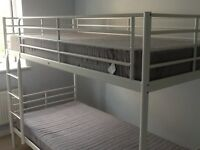 Bunk beds -IKEA - white -excellent condition