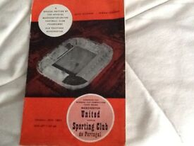 Man Utd v Sporting Lisbon Programme Special Edition 1964 28th Feb Cup Winners Cup 3rd Round