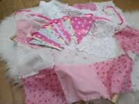 Newborn photography bundle, newborn baby, posing blanket, bunting, crochet liner, ready to collect