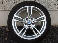 18INCH 5/120 BMW M-SPORT GENUINE ALLOY WHEELS WITH WIDER REARS & TYRES FIT MOST MODELS