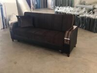 ORDER --- NOW SUPERB TURKISH SOFA BED WITH STORAGE BRAND NEW WE DO SAME DAY EXPRESS DELIVERY