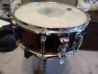 (REDUCED) Yamaha candy red snare drum