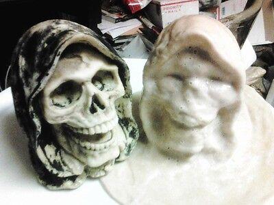 Grim Reaper Head Mold Latex For Concrete Or Plaster  - $29.99