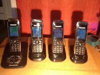4 Panasonic KX-TGA840E phones with answering machine