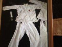 job lot 3 karate outfits