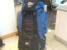 Lowe Alpine Appalatian 55 + 15 litre expansion=70 litre capacity-pockets pouches,padded backstraps