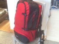£45-New/unused CEDAR BREAKS 65 + 15 litre expansion=80 litre max. Capacity travel rucksack