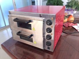 """Commercial Baking Oven Fire Stone Electric Pizza Oven 2 x 16"""" Twin Deck 395*395mm"""