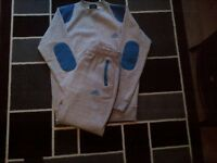 mens medium grey and blue adidas tracksuit only worn once
