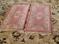 Two Indian Rugs 60 x 120 cms