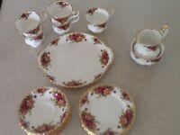 Royal Albert old country roses bone china tea set