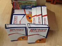 Full set of art course books in binders