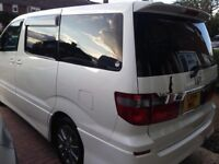 8 SEATER TOYOTA ALPAHRD - IDEAL TAXI - chauffeur - LIMO - CAMPER VAN - MOTOR HOME - HAD DOUBLE BED