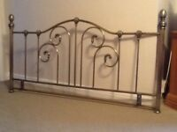 Double Bed Headboard in a sturdy metal with antique brass finish and attractive design.