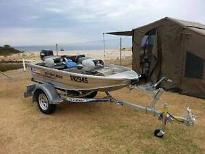 Quintrex Explorer 250 with 6HP motor and Dunbier trailer North Adelaide Adelaide City Preview