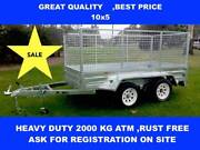 10X5 HOT DIP GALVANISED TRAILERS 2000KG GVM  ON SALE NOW Dandenong South Greater Dandenong Preview