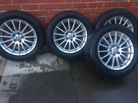 """17"""" Alloy Wheels 5x108 with tyres (235/55/17) . Genuine from Jaguar XF"""
