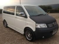 VW TRANSPORTER T5 1.9 TDI 5 SEATER DAY/CAMPER VAN 2009/59 PLATE WITH 166K AND 11 MONTHS MOT