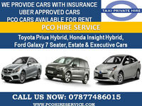 PCO CARS READY FOR H I R E (TOYOTA PRIUS/GALAXY/MERCEDES) £120