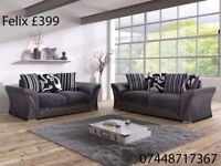 FELIX, DINO FABRIC SOFAS 3+2 OR CORNERS SPRING SALE!!