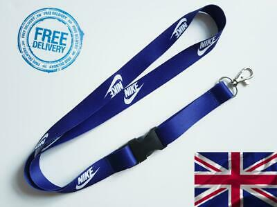 Nike Lanyard Neck Strap for Keys ID Card Holder - NAVY BLUE W 20mm, L52cm