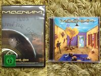 Magnum CD and DVD package - The Visitation CD (2011) and Livin' The Dream DVD (Live 2005 - 2 discs)