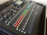 Behringer X32 digital mixing console and flight case