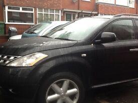 Nissan Murano mpv black leather alloys cameras good condition