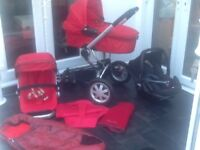 Quinny buzz red full travel system