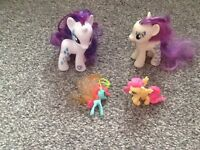 My little ponys rarity ,Bon Bon figures plus min flutter shy and breezie