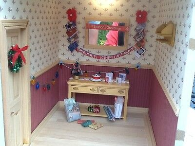Dolls house miniature 12th scale - Christmas decoration set
