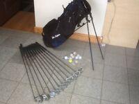 Set of HOWSEN clubs plus Ben Sayer bag-clubs 3,4,5,6,7,8,9 & P,driver 1 & 5,putter,10balls & tees