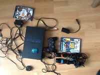Play station 2 with one controller and memory card & extras