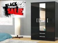 WARDROBES BLACK FRIDAY SALE STARTED WARDROBES FAST DELIVERY BRAND NEW 3 DOOR 2 DRAW 4912DAAUBADA