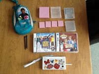 White Nintendo DSI handheld games console, games and accessories