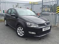 FROM £30 PER WEEK 2010 VOLKSWAGON POLO 5DR HATCHBACK 1.4 PETROL MANUAL BLACK FULL SERVICE HISTORY
