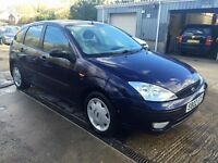 ** NEWTON CARS ** 02 FORD FOCUS 1.6 ZETEC, 5 DOOR, ATI, MOT OCT 2016, P/EX POSS, CALL US