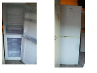 WHIRLPOOL FRIDGE FREEZER 65 INCHES HIGH X 21 WIDE GOOD WORKING ORDER CAN BE SEEN WORKING