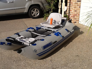 INFLATABLE DINGHY BOAT SEA EAGLE FRAMELESS BOAT W/- TRAILER Albany Creek Brisbane North East Preview
