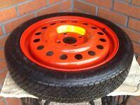 Saab 9000 spare wheel.