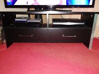 Black and Chrome TV and DVD unit.